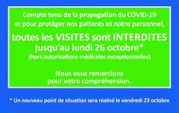 CHBB : interdiction des visites